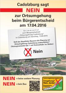 Plakat Bürgerentscheid