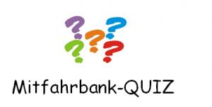 Quiz-Mitfahrbank